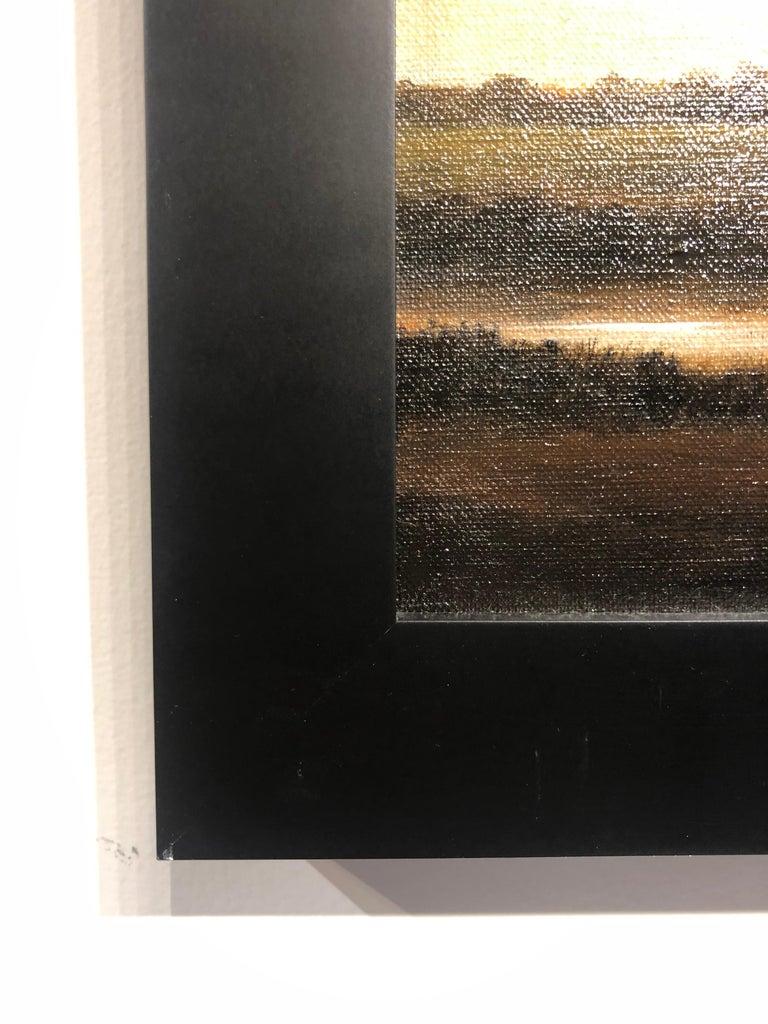 Streams of Bloomington, Serene Landscape with Vast Hazy Blue Sky, Framed 1