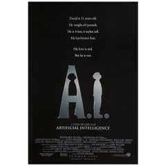 """A.I."" 2001 U.S. One Sheet Film Poster"