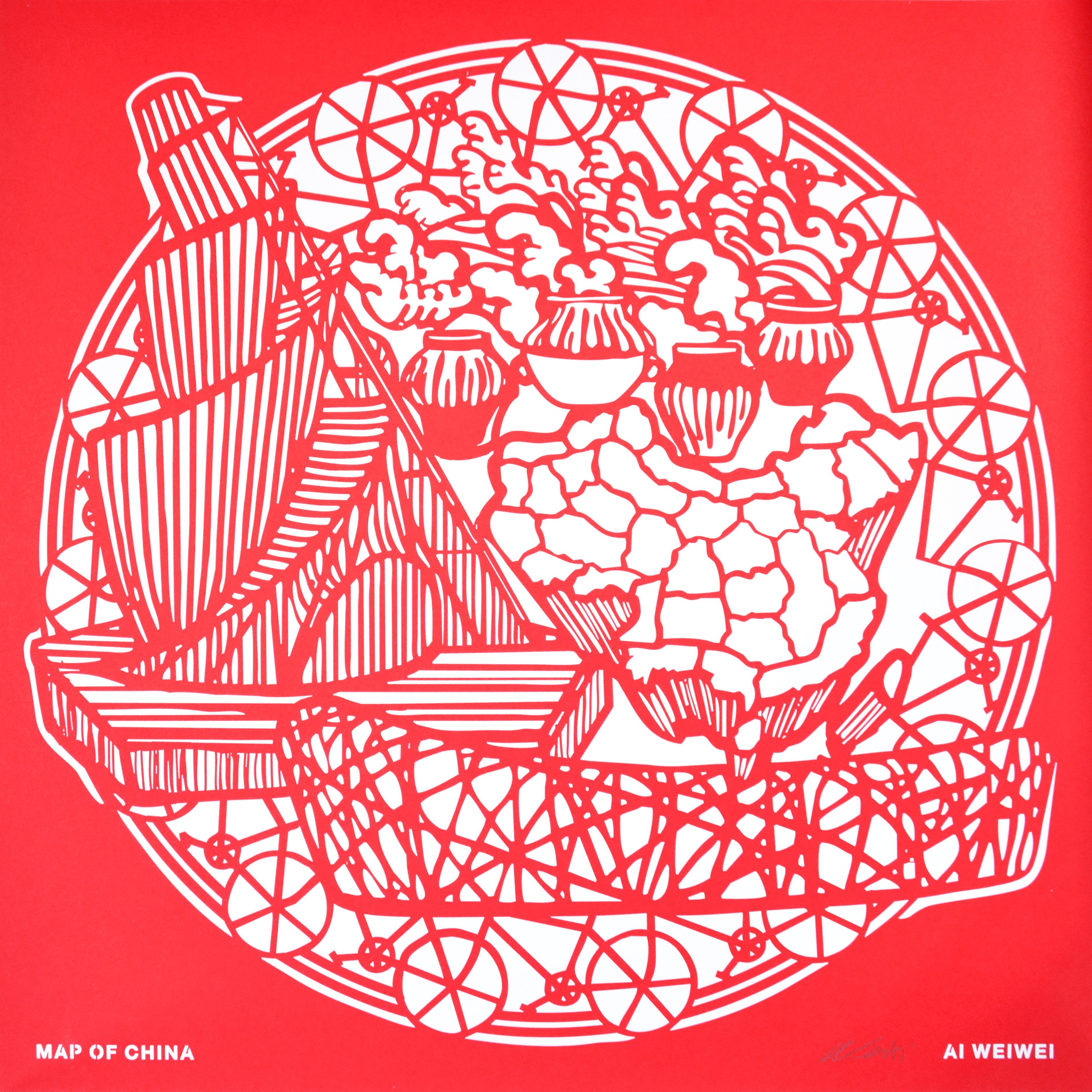 Ai Weiwei, Map of China, from the Papercut Portfolio, 2019