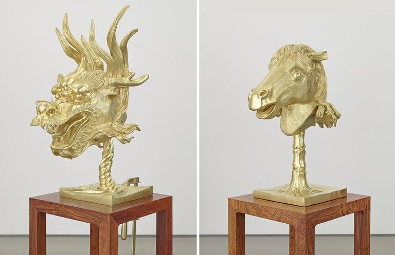Circle of Animals/Zodiac Heads: Gold - Sculpture by Ai Weiwei