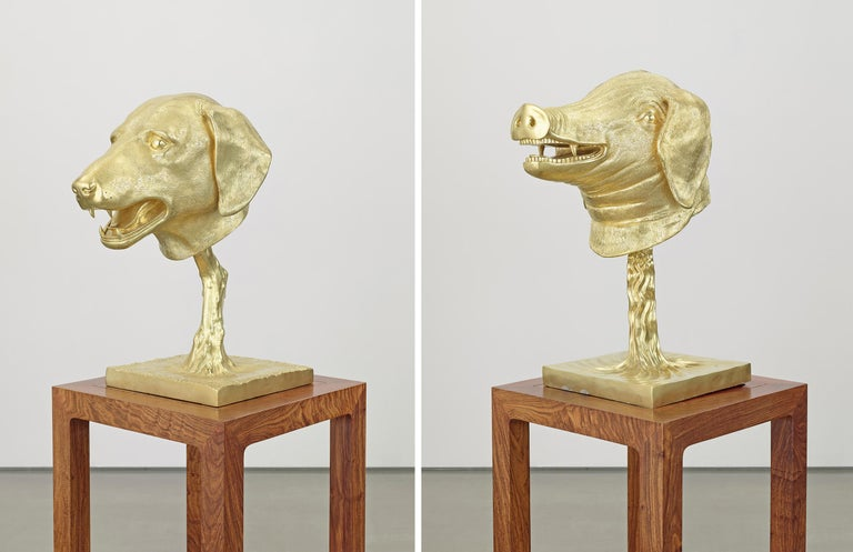 Circle of Animals/Zodiac Heads: Gold - Contemporary Sculpture by Ai Weiwei