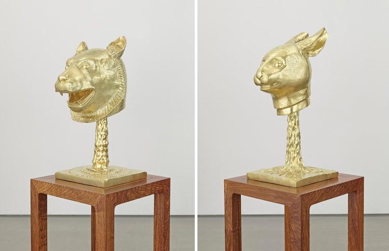 Circle of Animals/Zodiac Heads: Gold - Gray Figurative Sculpture by Ai Weiwei