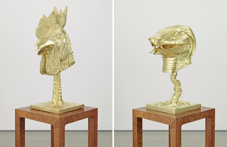 Circle of Animals/Zodiac Heads: Gold For Sale 1