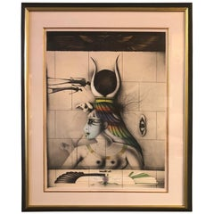 """""""Aida"""" Artist Proof Lithograph by Paul Wunderlich"""