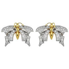 Aida Bergsen 18 Karat Gold and Round Cut Diamond Goth Studs
