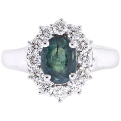 AIG Certified 2.03 Carat Oval Natural Color Changing Alexandrite Engagement Ring