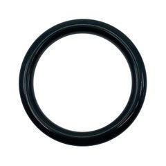 AIG Certified Natural Black Jade Bangle Bracelet 53.5g
