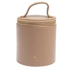 Aigner Beige Leather Box Bag