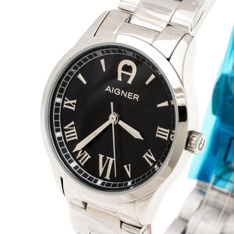 Aigner Black Stainless Steel Modica A32600 Women's Wristwatch 30 mm 2