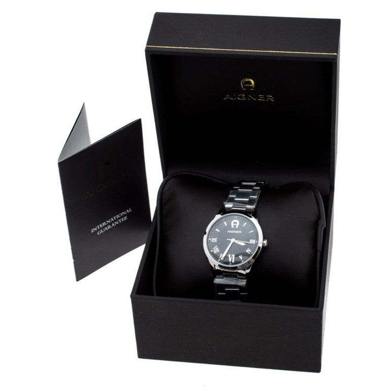 Aigner Black Stainless Steel Modica A32600 Women's Wristwatch 30 mm 4