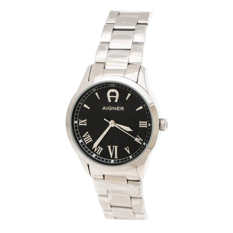 Aigner Black Stainless Steel Modica A32600 Women's Wristwatch 30 mm For Sale