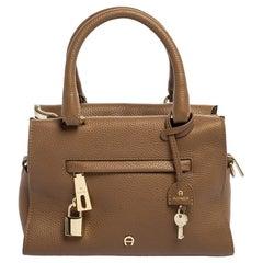 Aigner Brown Leather Kaia Satchel
