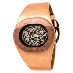 Aigner Brown Silver Bronze Tone Ravello Due A21000 Women's Wristwatch 43 mm