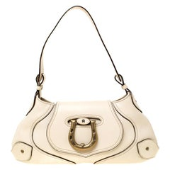 Aigner Cream Leather Shoulder Bag