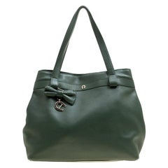 Aigner Green Leather Tote