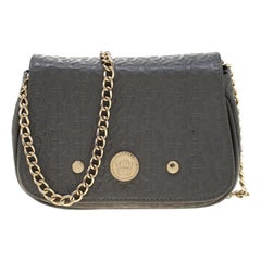 Aigner Grey Leather Chain Crossbody Bag