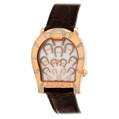 Aigner Mother of Pearl Diamonds Verona A01100 Women's Wristwatch 33 mm