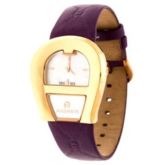 Aigner Mother of Pearl Gold Plated Stainless Steel Venezia Women's Wristwatch 36