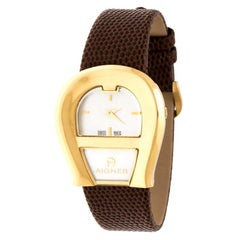 Aigner Mother of Pearl Gold Platedl Venezia A39200 Women's Wristwatch 36 mm