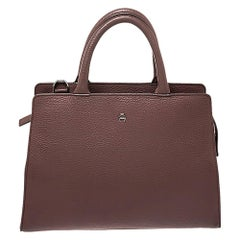 Aigner Nude Beige Leather Cybill Tote