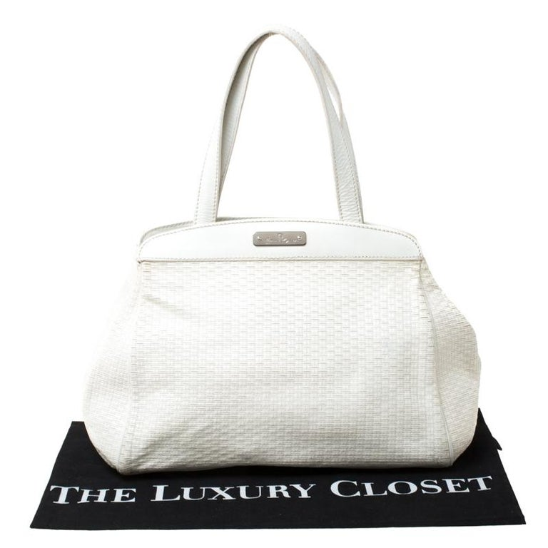 Aigner Off-white Leather Satchel 6