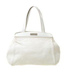 Aigner Off-white Leather Satchel