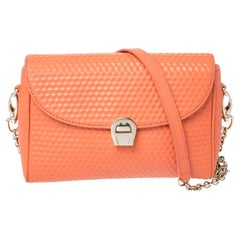 Aigner Orange Leather Genoveva Pochette Crossbody Bag