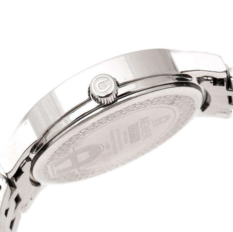 Aigner Silver Stainless Steel Cortina A26300 Women's Wristwatch 35 mm For Sale 1