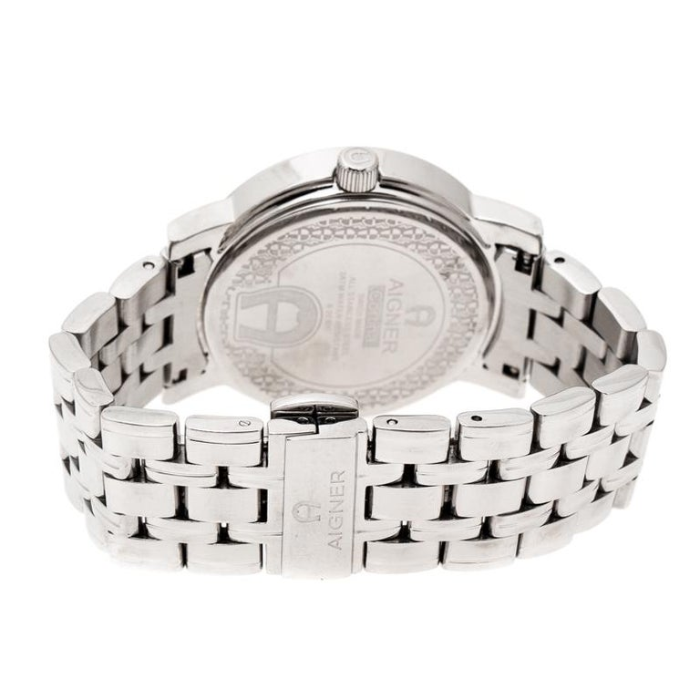 Aigner Silver Stainless Steel Cortina A26300 Women's Wristwatch 35 mm For Sale 3