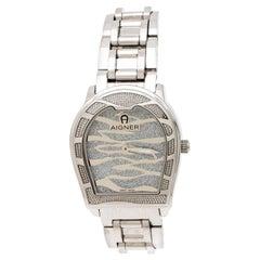 Aigner Silver Stainless Steel Verona A48100 Women's Wristwatch 33 mm