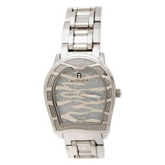 Aigner Silver Stainless Steel Verona A48100 Women's Wristwatch 33 mm