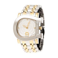 Aigner White Floral Stainless Steel Genua Due A31600 Women's Wristwatch 31 mm