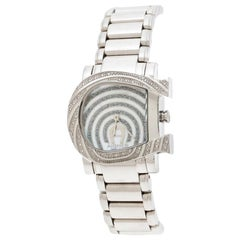 Aigner White Mother of Pearl Diamonds Genua Due A31600 Women's Wristwatch 31 mm