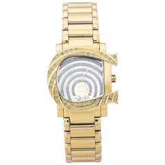 Aigner White Mother of Pearl Gold Diamonds Due A31600 Women's Wristwatch 31 mm