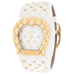 Aigner White Mother of Pearl L'Aquila A41200 Women's Wristwatch 36 mm