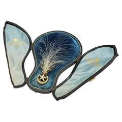 Aigrette Headpiece in 18 Karat Gold, Diamonds and Pearls