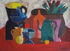 Colorful Still life. 1981. Canvas, oil, tempera, 65x88 cm