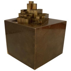 Aiko Miyawaki Brass Puzzle, Sculpture Desk Accessory Midcentury