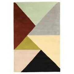 "Ailanto Geometric Multicolored Wool ""Marianne"" India Rug"