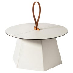 Aile Low White Side Table