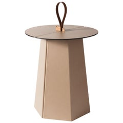 Aile Tall Beige Side Table