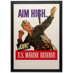 U.S. Marine Reserve WWII Poster, by Carl Shreve