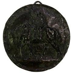 Aimé-Jules Dalou Bronze Medallion Relief Sculpture