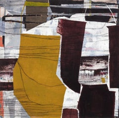 """""""Before The Hunt"""" - Non-Objective Paper Collage - Diebenkorn"""