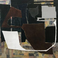 """""""Clever Gamesman"""" - Non-Objective Paper Collage - Diebenkorn"""
