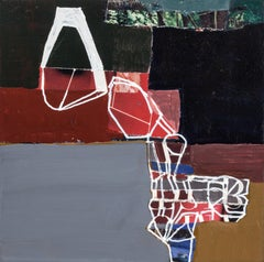 """""""Q4"""" - Non-Objective Paper Collage - Abstract - Diebenkorn"""