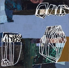 """""""Q6"""" - Non-Objective Paper Collage - Abstract - Diebenkorn"""