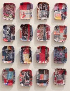 """Soapbox Series"" - Non-Objective Sculptural Paper Collage - Diebenkorn"