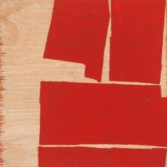 """""""Space Between Orange""""- Non-Objective Paper Collage - Diebenkorn"""