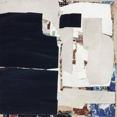 """""""The Good Hunt: Day 4"""" - Non-Objective Paper Collage - Diebenkorn"""